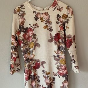Women's floral print Zara dress